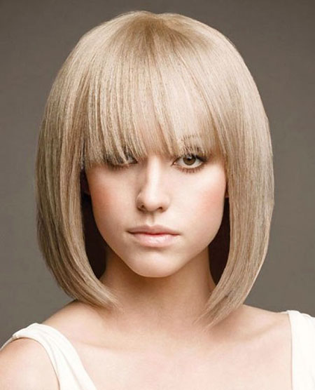 Short Hair with Straight Bangs - 12