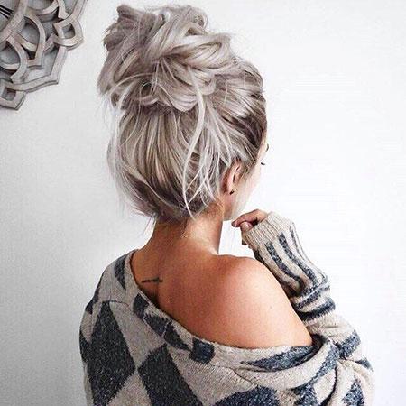 Bun Messy Hair Hairtyles