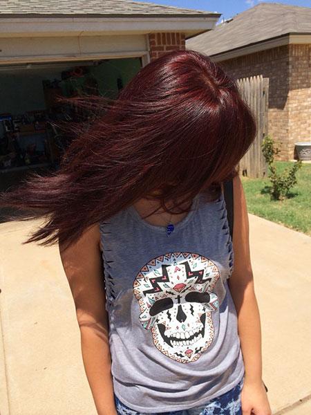 Burgundy Dark Brown Hair