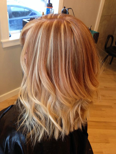 Blonde Hair Strawberry Color