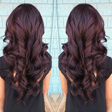 Hair Brown Burgundy Hairtyles