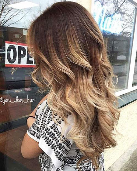 Balayage Hair Summer Brunette