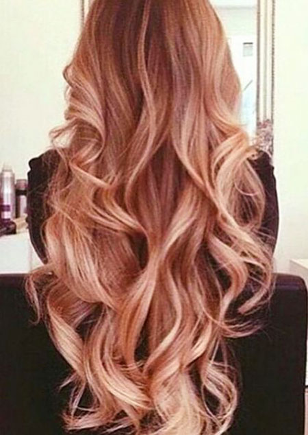 Hair Long Curls Color