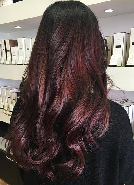 Hair Red Color Burgundy