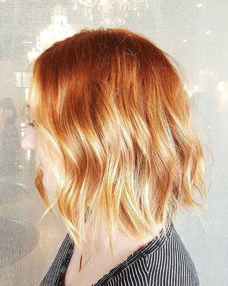 Blonde Hair Strawberry Bob