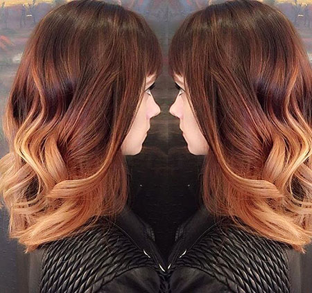 Hair Ombre Blonde Red
