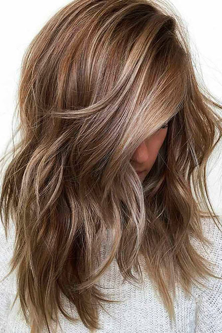 Layered Bronde Hair Medium
