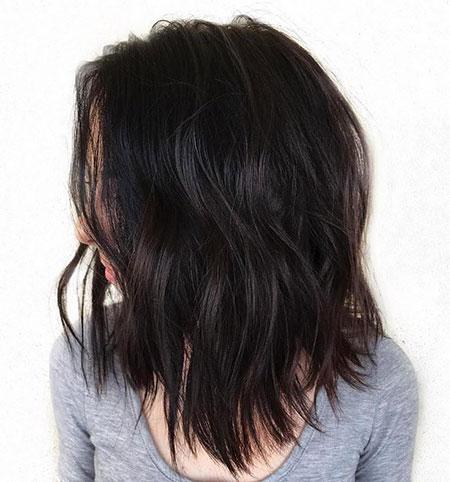 Wavy Medium Length Brunette
