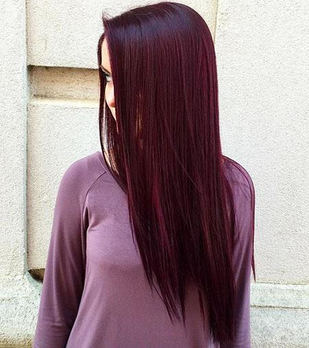 Hair Purple Burgundy Dark