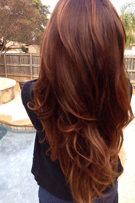 Hair Brown Colors Auburn