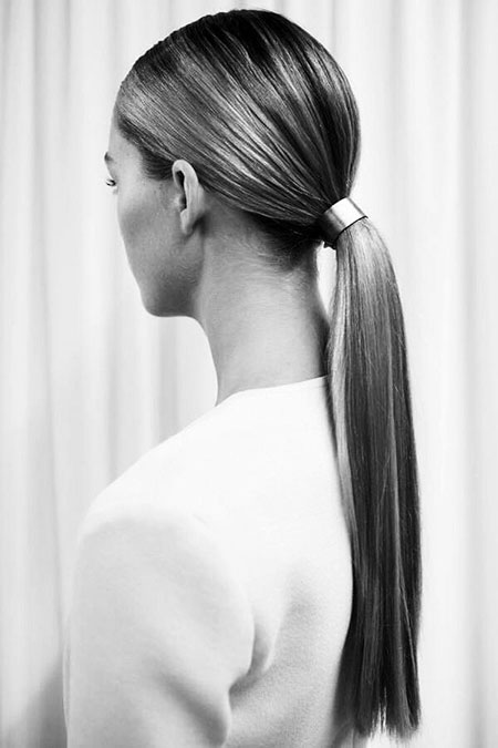 Low Ponytail Hairtyles Simple