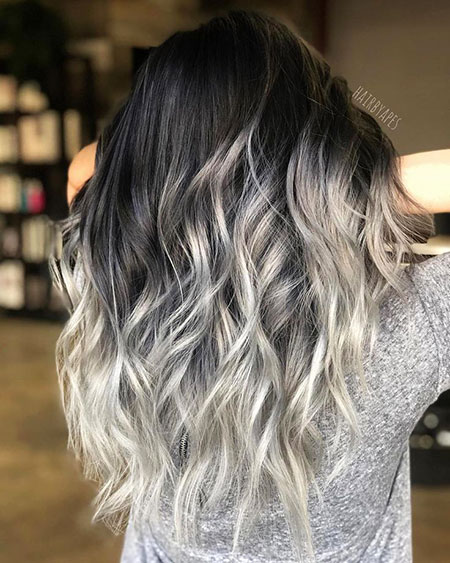 Balayage Hair Silver White