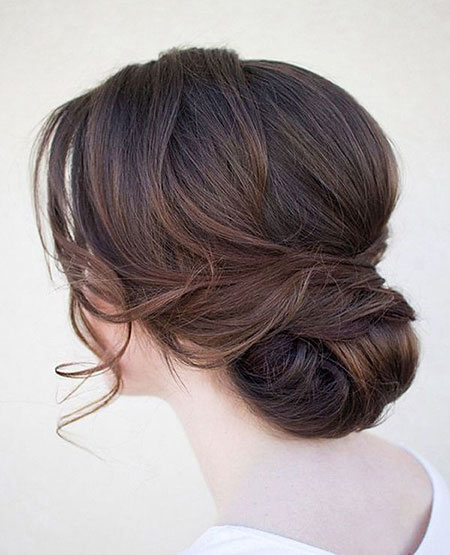 Low Bun, Updo Hair Wedding Low