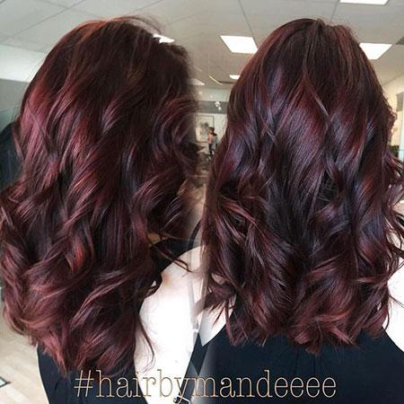 25 Brown And Burgundy Hair Hairstyles Haircuts 2017