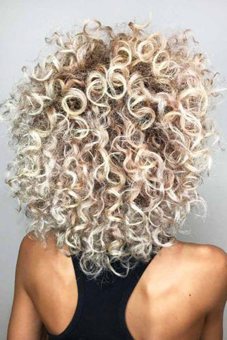 Frizzy Layered Bob Haircut, Curly Hair Bob Layered