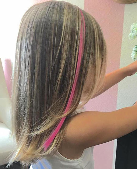 Cute Hairtyle, Girls Layered Hair Pink