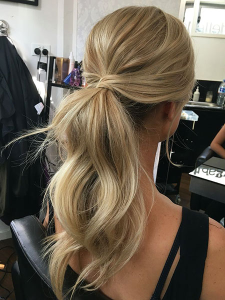 Low Ponytail Prom Hairtyle, Hair Prom Ponytail Hairtyles