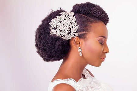 Natural Hair Hairtyles Wedding