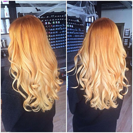 Blonde Ombre Strawberry Hair