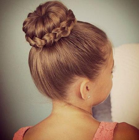 Bun Hairtyles Girl Buns