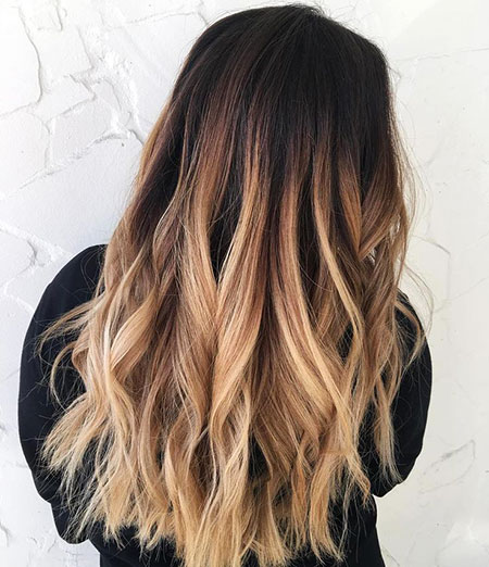 Ombre Hair Black Red