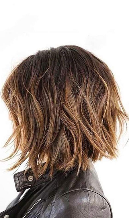 Choppy Bronde Layered Hair