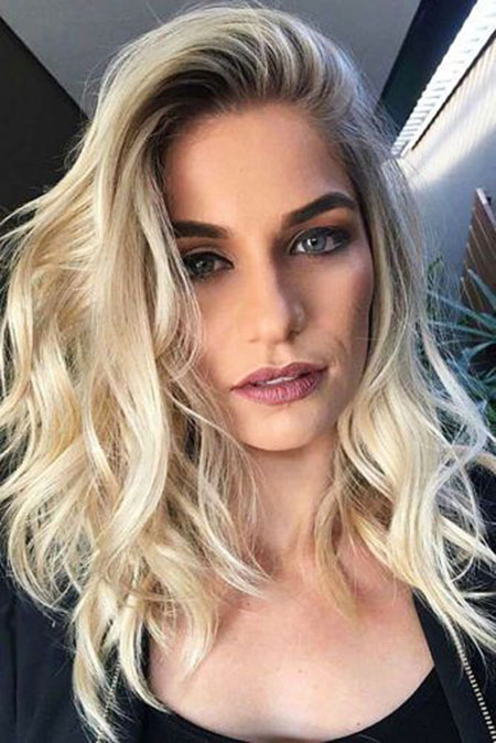 Hair Medium Makeup Blonde