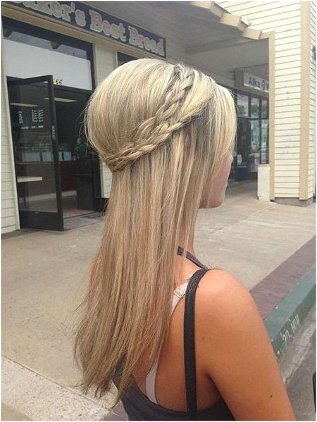 Long Straight Hair Braid