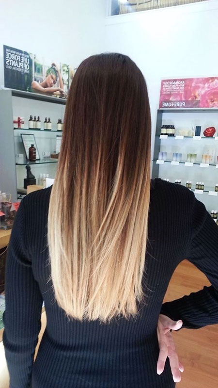 Ombre Hair Straight Hairtyles