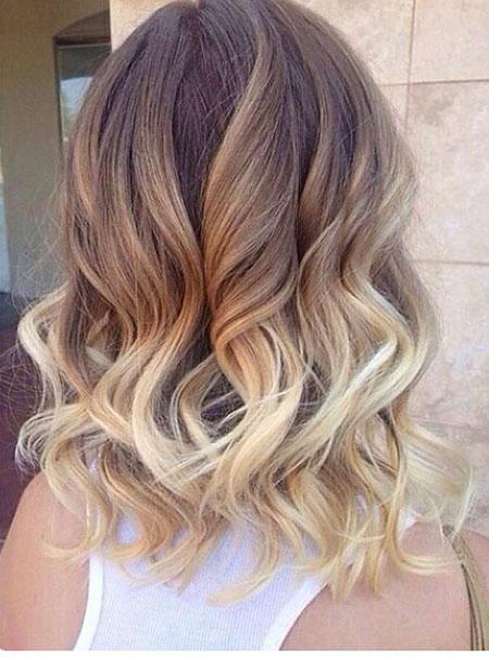 Hair Medium Length Ombre