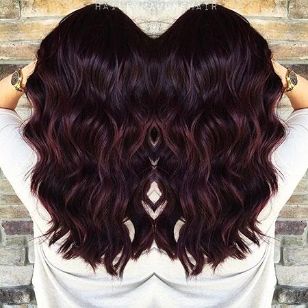 Dark Brown Burgundy Hair, Hair Brown Burgundy Dark