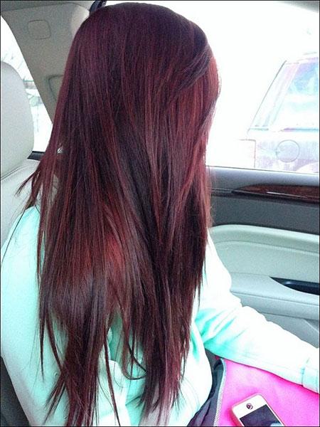 Straight Fine Hair, Hair Color Burgundy Brown