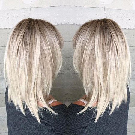 Shoulder Length Layered Cut, Blonde Hair Hairtyles Length