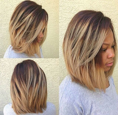 Lob Cut for Black Women, Bob Hairtyles Bobs Blonde