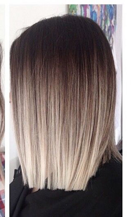 Lob Cut with Ombre, Hair Balayage Blonde Ombre