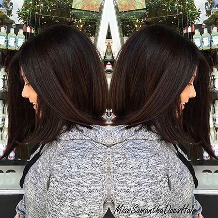 Chocolate Brown Hair, Hair Balayage Bob Length