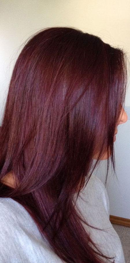Chic Color, Hair Red Burgundy Brown