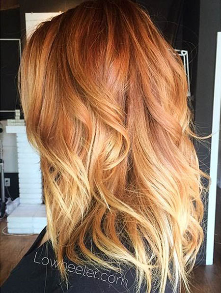 Ginger and Blonde, Hair Blonde Balayage Strawberry
