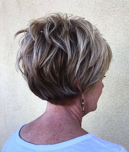 Graduation Pixie, Layered Pixie Choppy Short