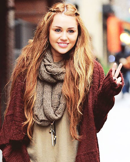 Half Up, Miley Scarf Infinity Cyrus