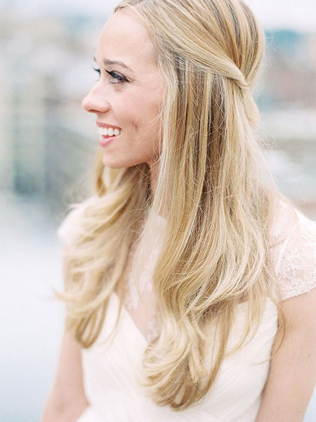 Wedding Half Up Style, Hairtyles Hair Wedding Long