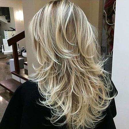 Blonde Long Layers Layered