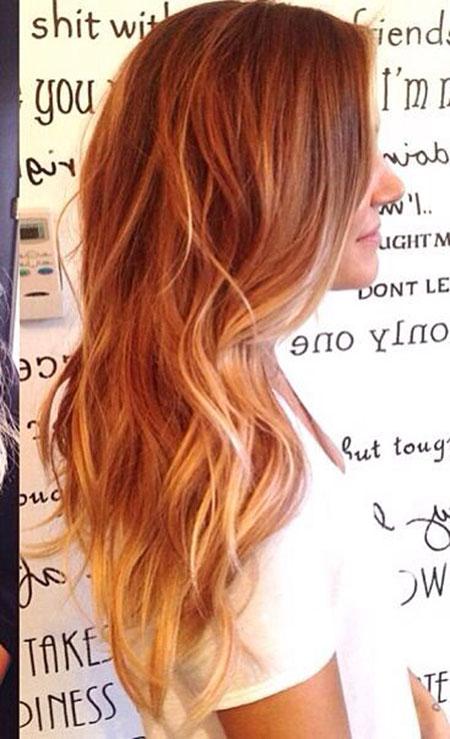 Hair Red Balayage Blonde