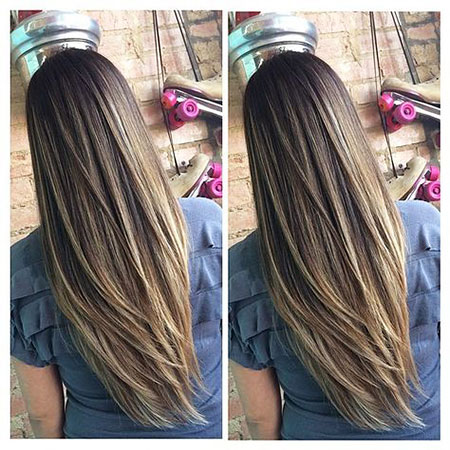 Color Hair Long Ombre