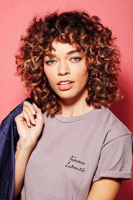 Curly Hair Modern Rizado
