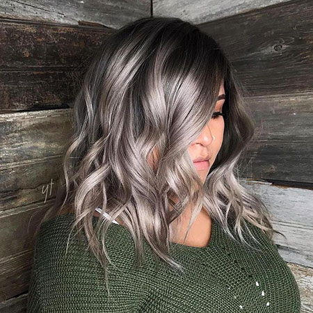 Hair White Brown Silver
