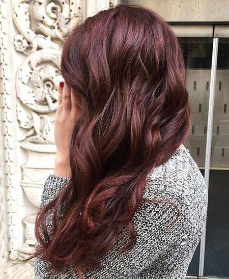 Hair Dark Color Auburn