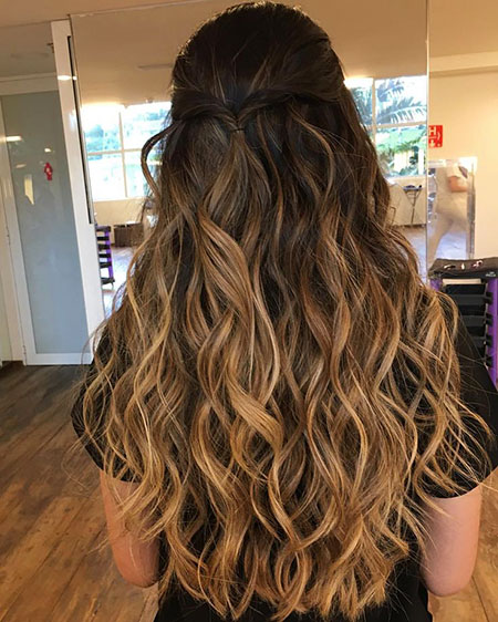 Hair Balayage Coloring Prom