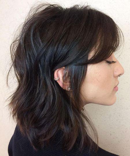Brown Medium Hairtyles Messy