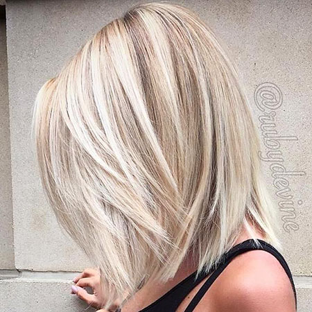 Blonde Medium White Layered